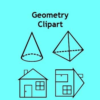 Geometry Clip Art - Shapes, Nets, Pattern Blocks & Transfo