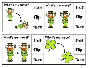 St. Patrick's Day Geometry Clip Cards
