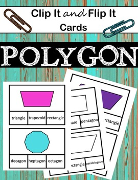 Geometry - Clip It and Flip It Cards, 2D Polygons
