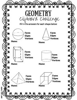 Geometry Clipboard Challenge: Investigating 3D Shapes