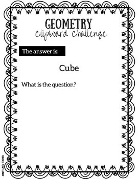 Geometry Clipboard Challenge Pack