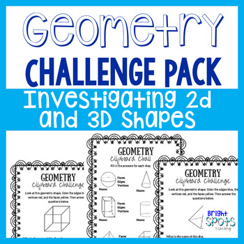 Geometry Clipboard Challenge Pack
