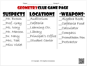 Geometry Clue Bundle