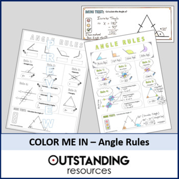 Color Me In Sheets (Doodle Notes) - ANGLE RULES