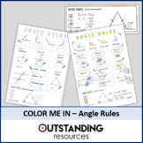 Color Me In or Doodle Sheets - Angle Rules