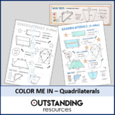 Color Me In or Doodle Sheets - Area of Quadrilaterals
