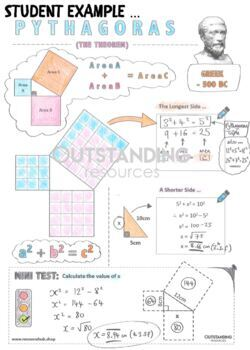 Color Me In Sheets (Doodle Notes) - PYTHAGORAS
