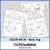Color Me In or Doodle Sheets - SOHCAHTOA or Basic TRIG