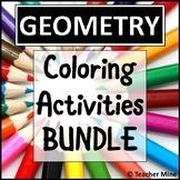 Geometry Coloring Activities BUNDLE