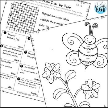 Geometry Coloring Activities- Fifth Grade