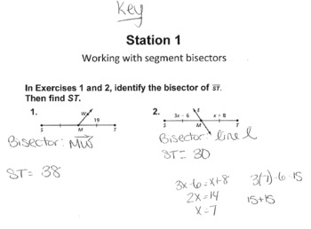 Geometry Common Core Complete Lesson *with Bonus* on Segments and Midpoints