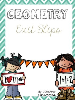 Geometry Common Core First Grade Exit Slips