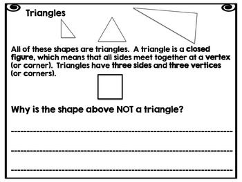 First Grade Geometry -Common Core