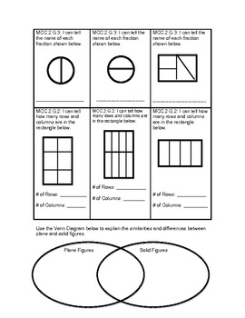 """Geometry Common Core """"I Can..."""" Review"""