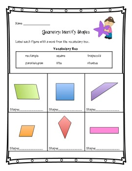 Geometry Common Core Math Assessments