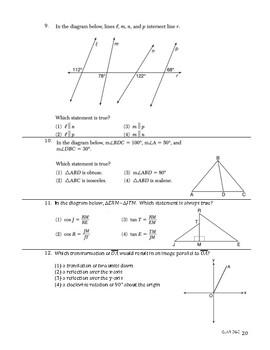 Geometry Common Core Regents Review Booklet