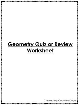 2.G.A.1 Geometry Common Core Second/Third Grade Review