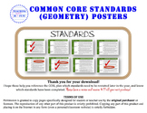 Geometry Common Core Standards Posters (California Standar
