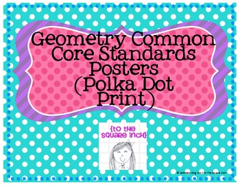 Geometry Common Core Standards Posters (Polka Dot Print)