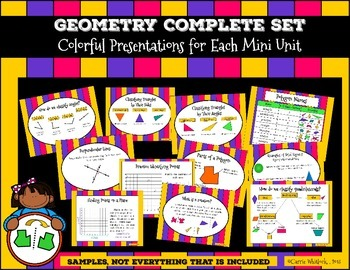 Geometry Complete Set : Polygons, Solids, Ordered Pairs, Lines, and More!