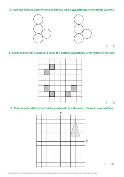 Geometry:  Completing Symmetrical Patterns