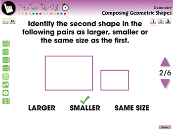 Geometry: Composing Geometric Shapes - Practice the Skill 1 - NOTEBOOK Gr. PK-2