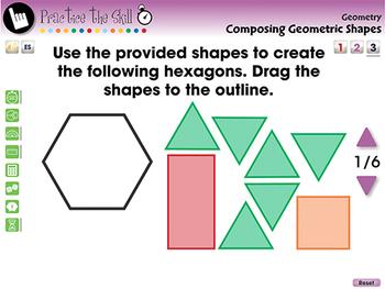 Geometry: Composing Geometric Shapes - Practice the Skill 3 - MAC Gr. PK-2
