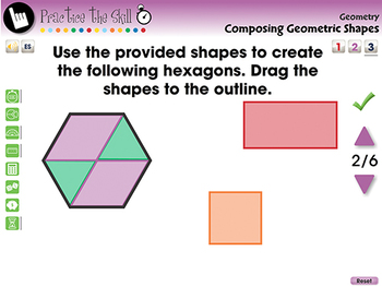 Geometry: Composing Geometric Shapes - Practice the Skill 3 - PC Gr. PK-2