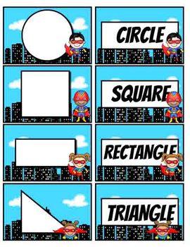 Geometry Concentration-Superhero Theme