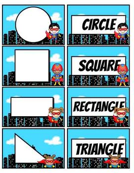 Geometry Concentration-Superhero Theme