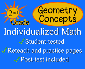 Geometry Concepts, 2nd grade - Individualized Math - worksheets