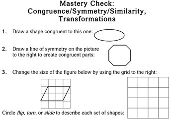 Geometry Concepts, 3rd grade - Individualized Math - worksheets
