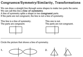 Geometry Concepts, 3rd grade - worksheets - Individualized Math