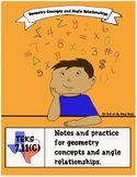 Geometry Concepts & Angle Relationships: Notes & Practice