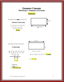 Geometry Summative Project - Constructing Swimming Pools using Formulas