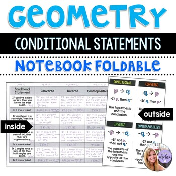 Geometry - Conditional Statements Foldable for Interactive Notebook