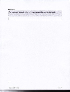 Geometry Congruent Polygons Class Starters