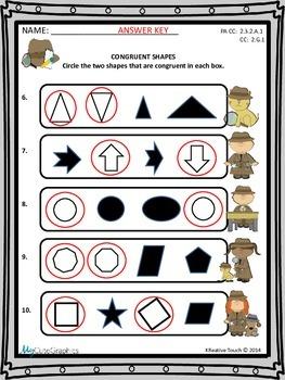 Geometry:  Congruent Shapes