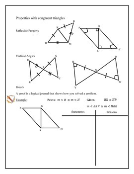 Geometry - Congruent Triangles, Postulates, Proofs