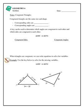 Geometry - Congruent Triangles, Postulates, Proofs