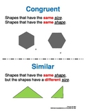Geometry - Congruent and Similar Shapes Poster