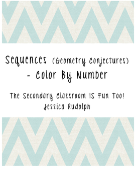 Geometry Conjectures about Sequences - Color By Number