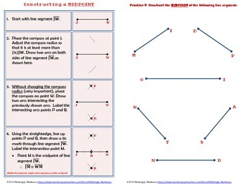Geometry Construction Booklet of Special Segments and Triangle Centers