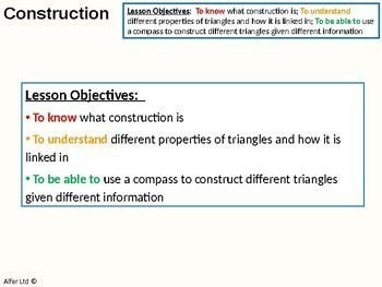 Geometry: Construction - Constructing Triangles