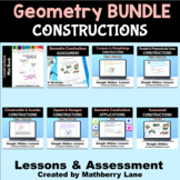 Geometry Constructions Bundle Assessments and Digital Lessons