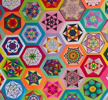 Geometry Constructions Math Art Compass Straightedge STEAM