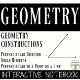 Geometry Constructions Notebooks for Bisectors and Perpendicular lines UPDATED