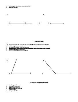 Geometry Constructions Project