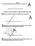 Geometry Constructions Segments, Angle, Line Segment, Angle, Perpendicular Lines