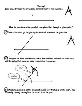 Geometry Constructions Segments, Angle, Line Segment, Angl